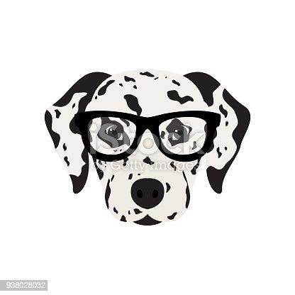 istock Dalmatian dog in glasses. 938028032