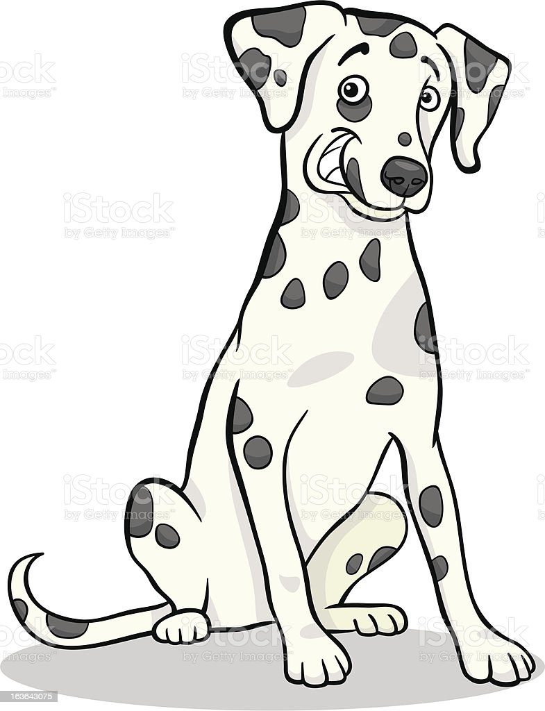 dalmatian purebred dog cartoon illustration royalty-free stock vector art