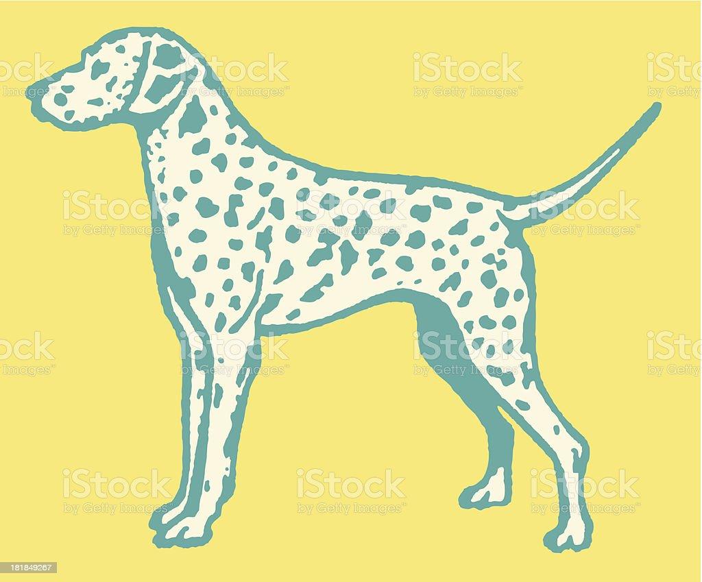 Dalmatian royalty-free stock vector art