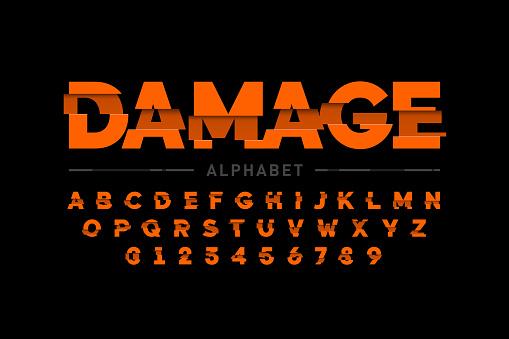 Damaged font
