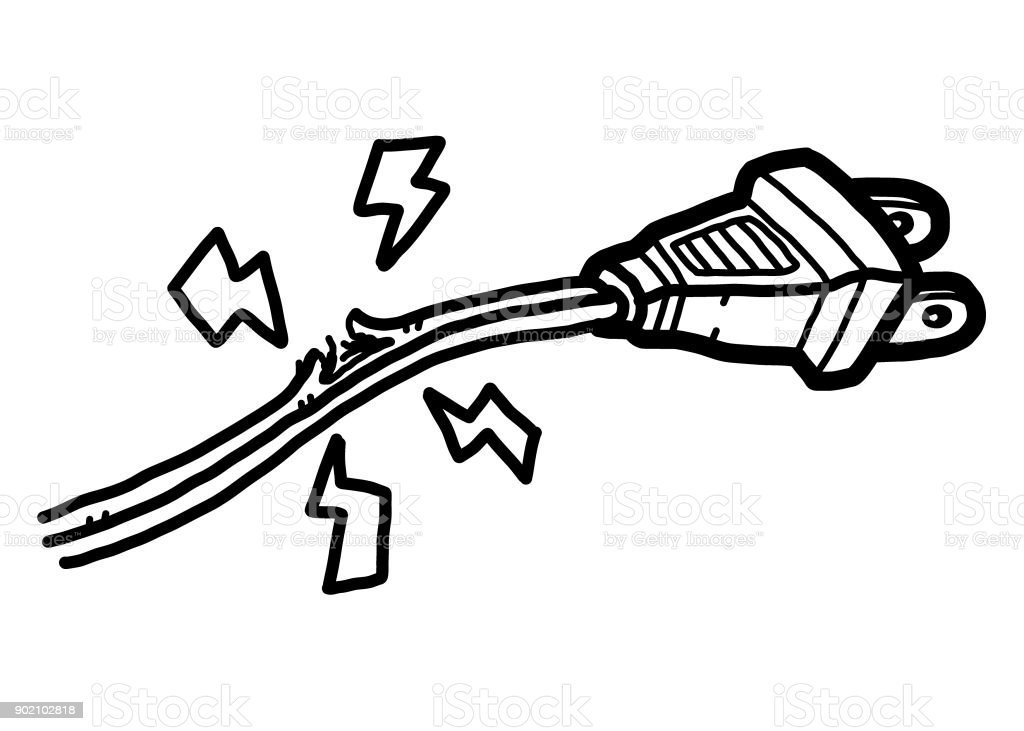royalty free cartoon of the short circuit clip art  vector