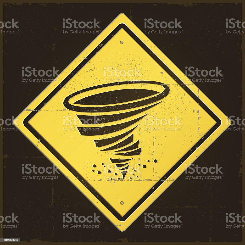 Damaged Tornado Warning Sign royalty-free damaged tornado warning sign stock vector art & more images of cut out