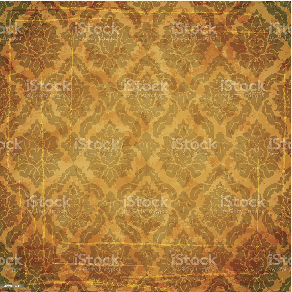 Damask ancient background royalty-free stock vector art