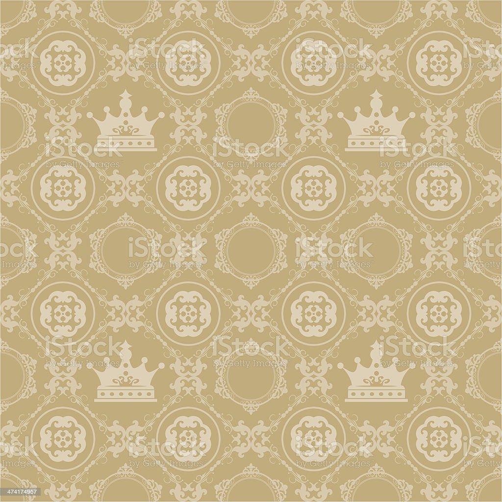 Damask Decorative Wallpaper For Walls Stock Vector Art & More Images ...