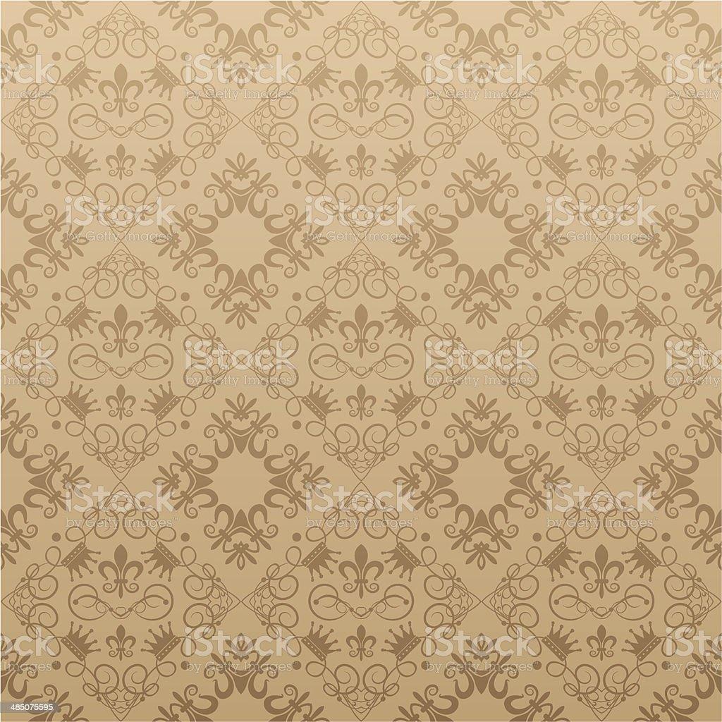 Ilustracion De Damask Decorativos Papel Tapiz Para Paredes Y Mas - Tapices-para-pared
