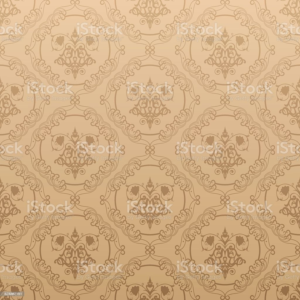 Damask Decorative Wallpaper Stock Vector Art & More Images of ...