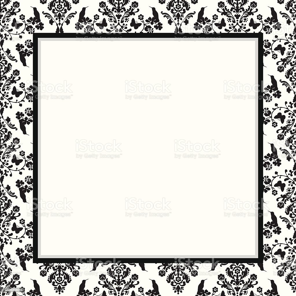 damask frame invitation design royalty-free stock vector art
