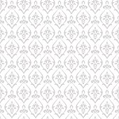 Damask pattern vector. Design print for wallpaper, fabric or wrapping paper. Abstract silver background.