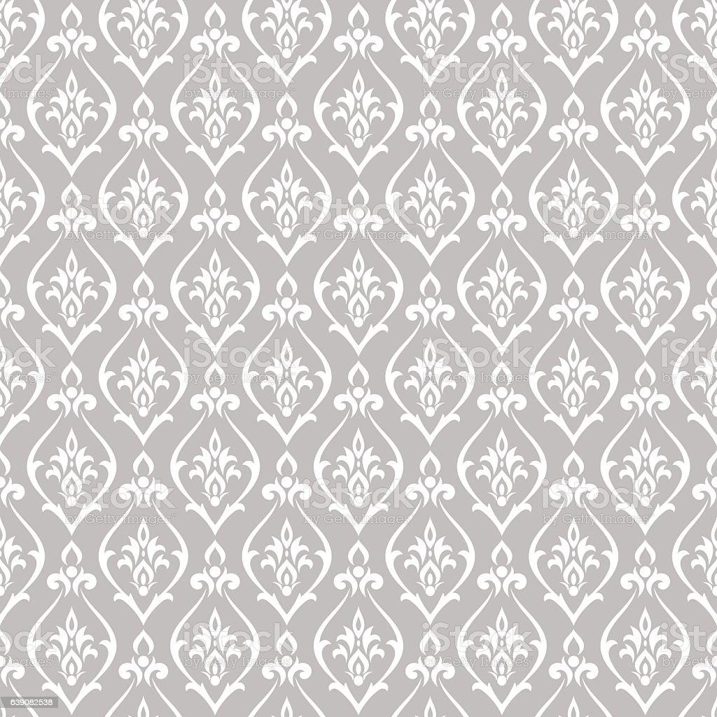 Patrón de vector damascena - ilustración de arte vectorial