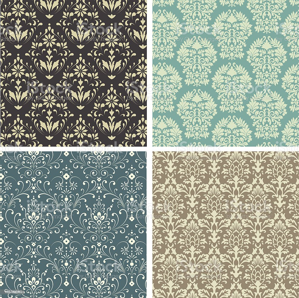 Damask Patterns royalty-free stock vector art