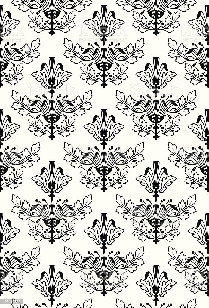 Damask Seamless Pattern Background royalty-free stock vector art