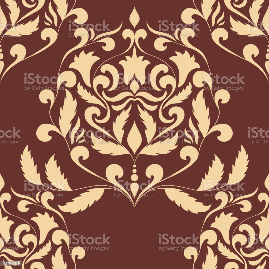 Damask seamless pattern element royalty-free stock vector art