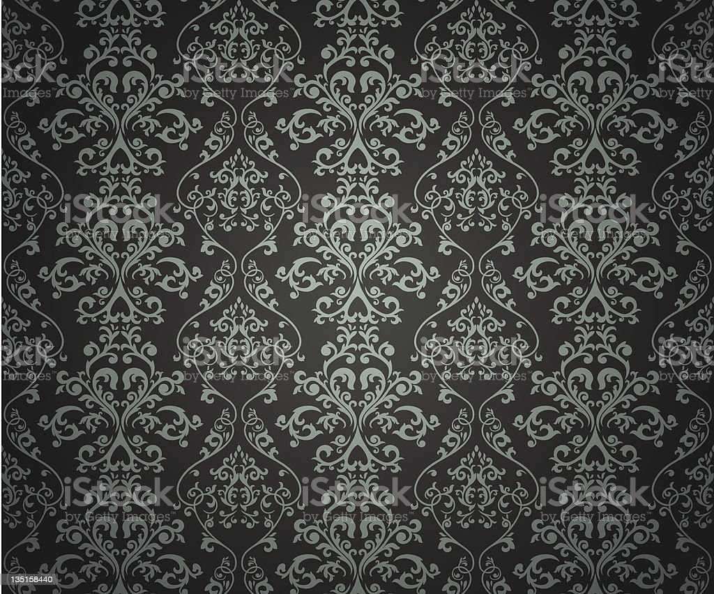 Damask seamless pattern on gradient background. royalty-free stock vector art