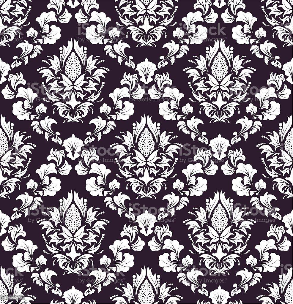 Damask seamless pattern royalty-free stock vector art