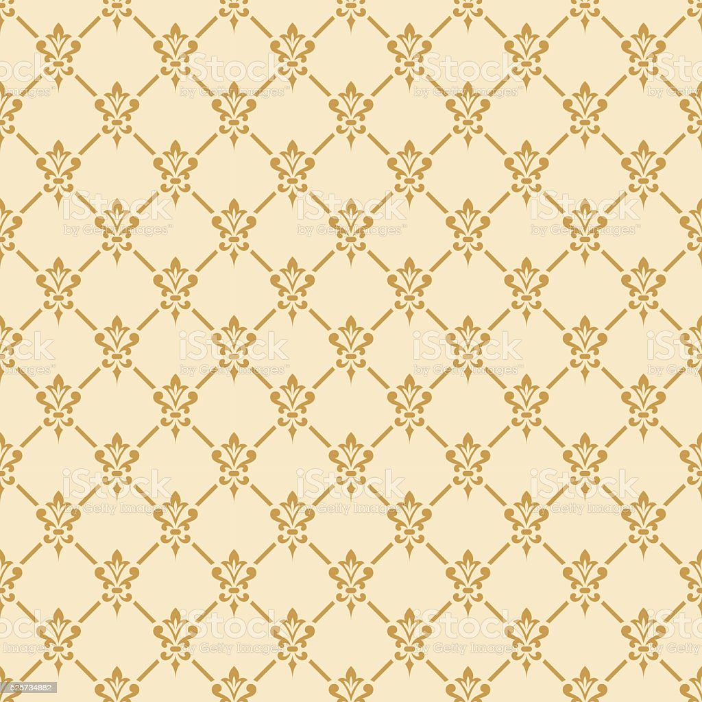 Damask seamless pattern. vector art illustration