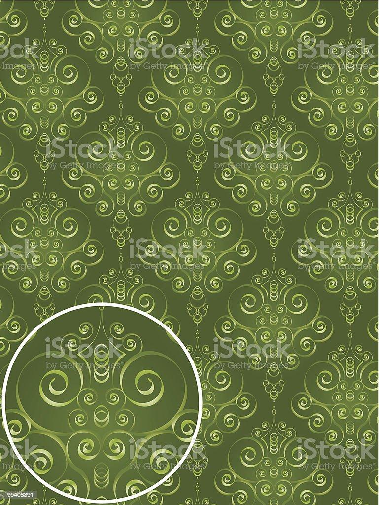 Damask Style Pattern royalty-free stock vector art