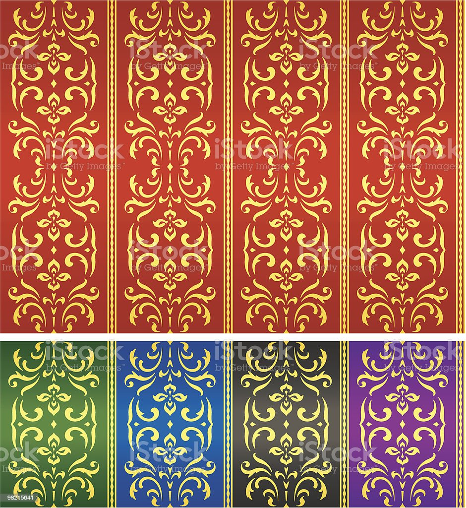 Damask textile or wallpaper pattern royalty-free damask textile or wallpaper pattern stock vector art & more images of antique