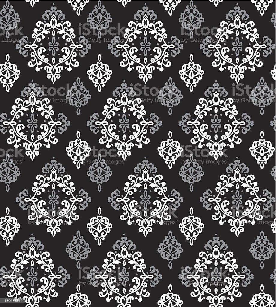 Damask textile/wallpaper seamless pattern royalty-free stock vector art