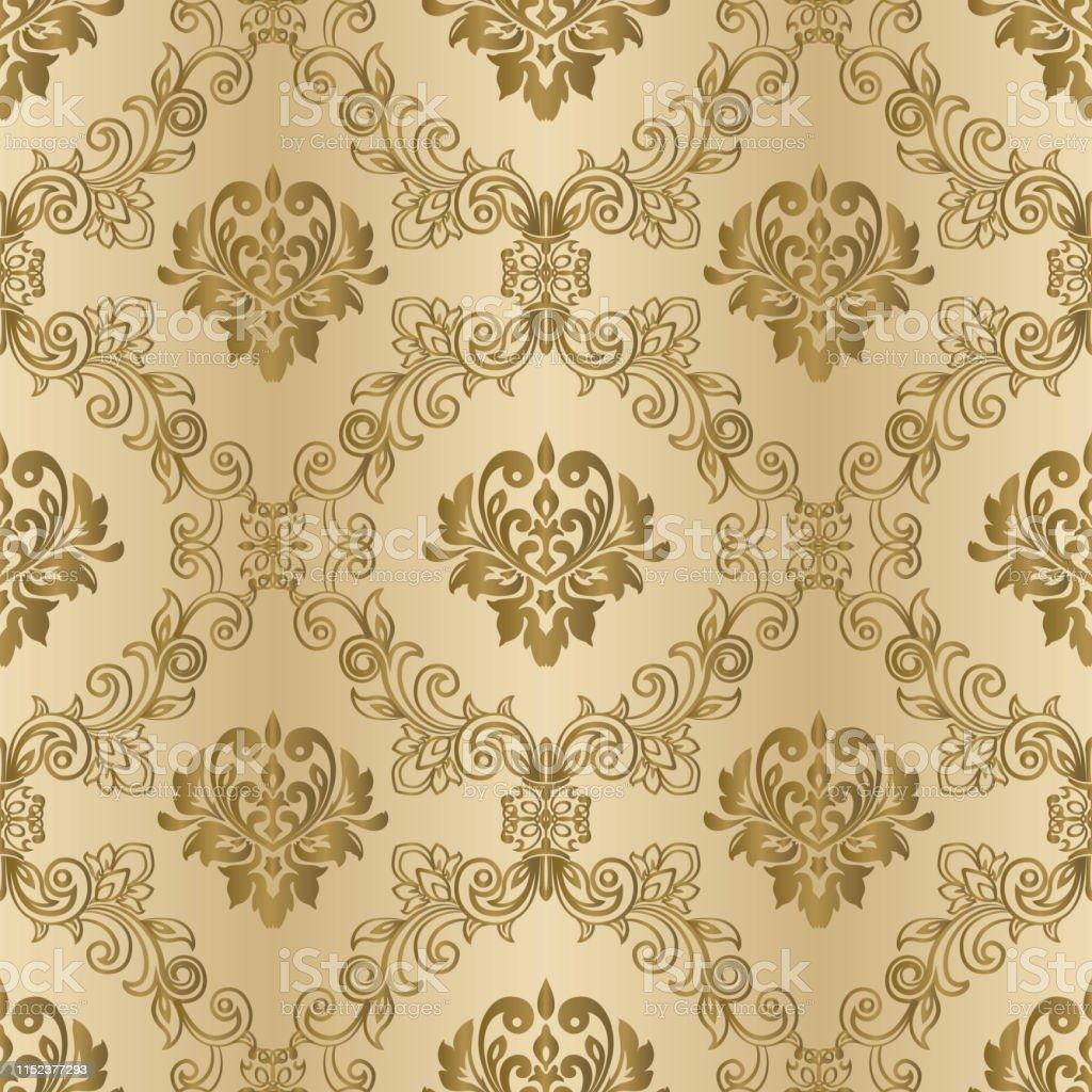 Damask Vintage Seamless Background Pattern Elegant Luxury ...