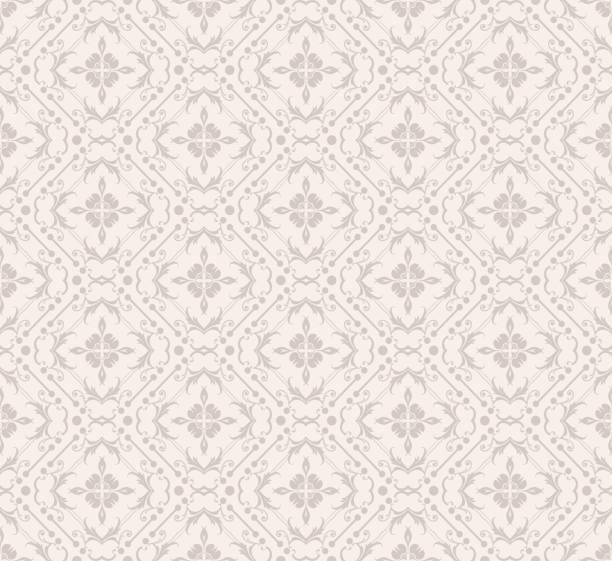 ダマスク壁紙、花柄、モダンなデザイン。シームレスなベクトルテクスチャ - ロココ調点のイラスト素材/クリップアート素材/マンガ素材/アイコン素材