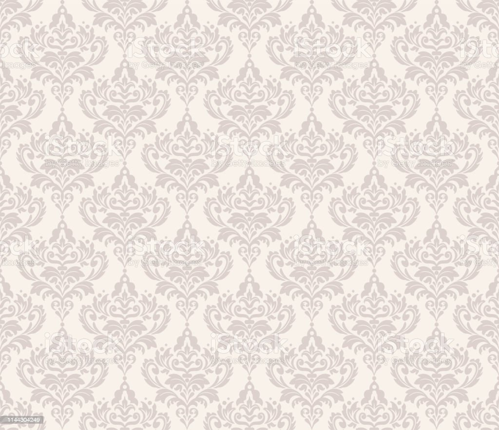 Damask Wallpaper Floral Pattern Modern Design Seamless Vector