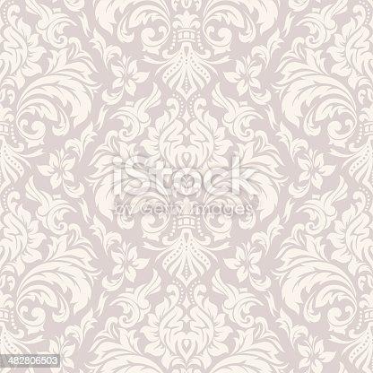 istock Damask Wallpaper Pattern 482806503