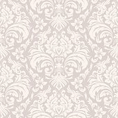 Damask Wallpaper Pattern illustration. All elements are separate. No transparent and mesh layer. Hi-Res jpeg included. Very hight detailed.