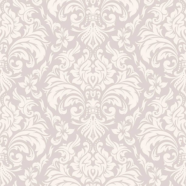 stockillustraties, clipart, cartoons en iconen met damask wallpaper pattern - barokstijl