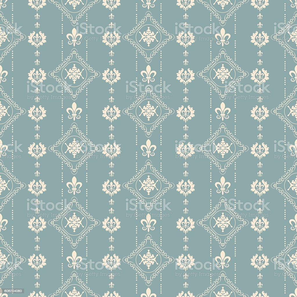 Damask Wallpaper Seamless Texture Vintage Royalty Free Stock