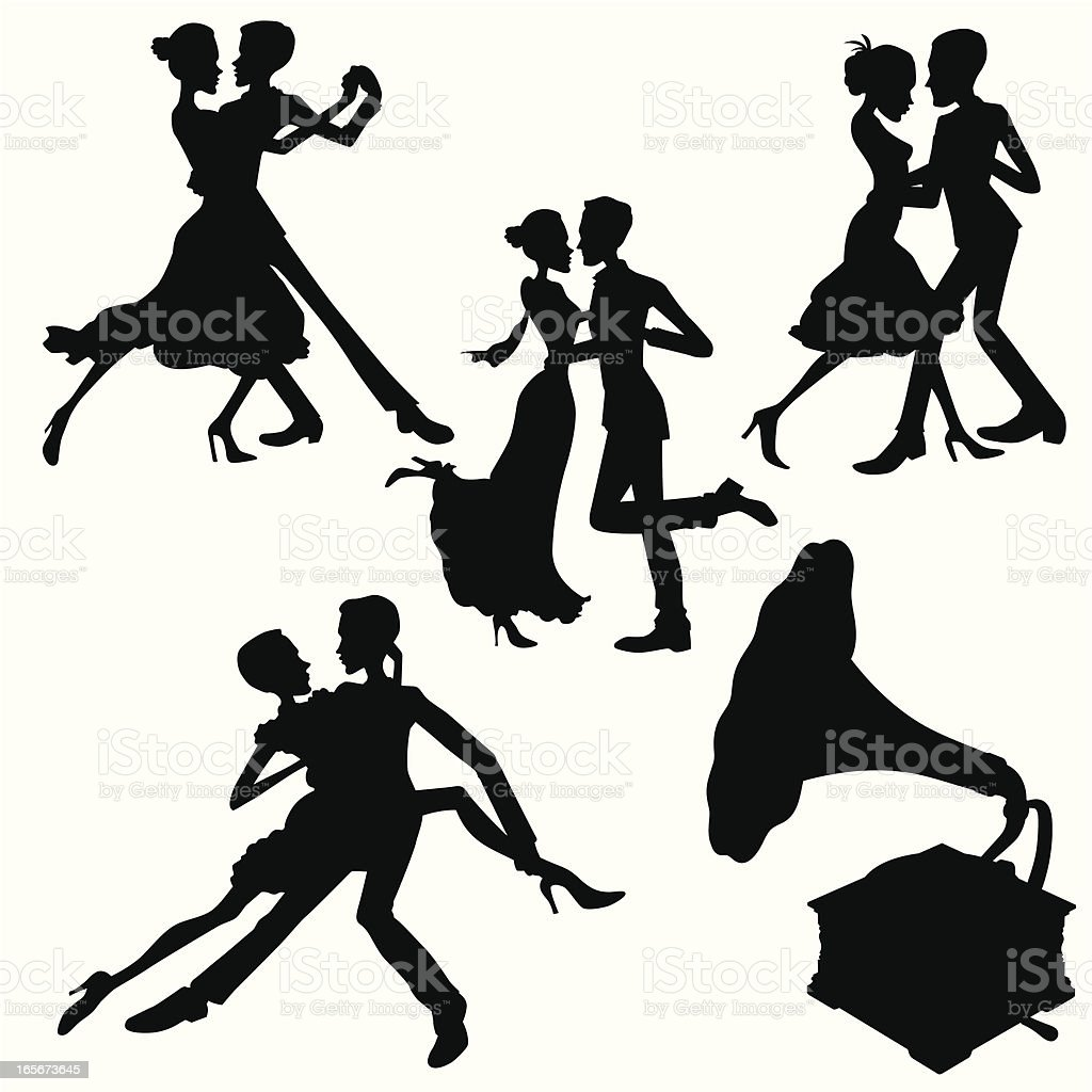 Dance and Music vector art illustration