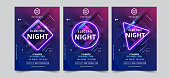 istock Dance Club Night Party Flyer Brochure Layout Template. Club Party Banner design. Vector illustration - Vector 1188389014