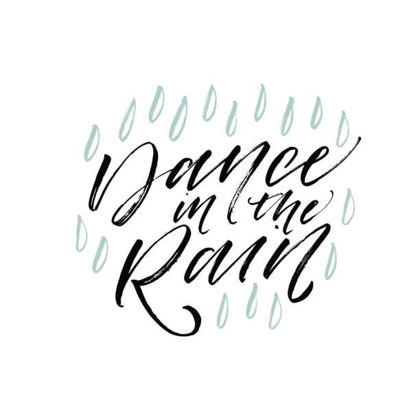 Royalty Free Dancing In The Rain Clip Art, Vector Images ...