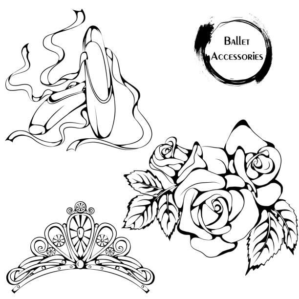 Vectores de Zapatillas De Ballet y Illustraciones Libre de Derechos ...