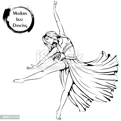 Ilustración de Línea De Danza Contemporánea y más banco de imágenes ...
