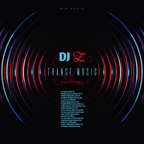 ilustrações, clipart, desenhos animados e ícones de cartaz de vetor de festa dança música club com dj misturar discos de vinil - toca discos