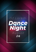 Dance night party poster background