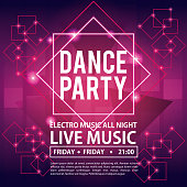 dance party invitation stock vector art more images of abstract