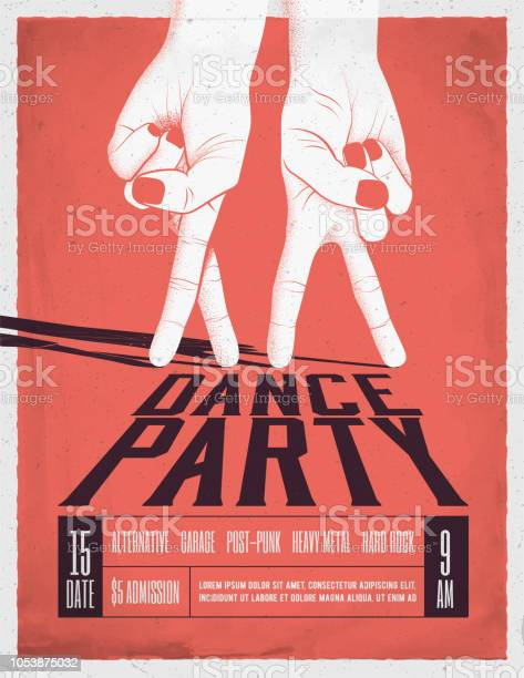 Dance party poster with two dancing hands vintage styled vector vector id1053875032?b=1&k=6&m=1053875032&s=612x612&h=zphn0dsloql0p1wyew9r8ctph vffm  wxkavq7h8m8=