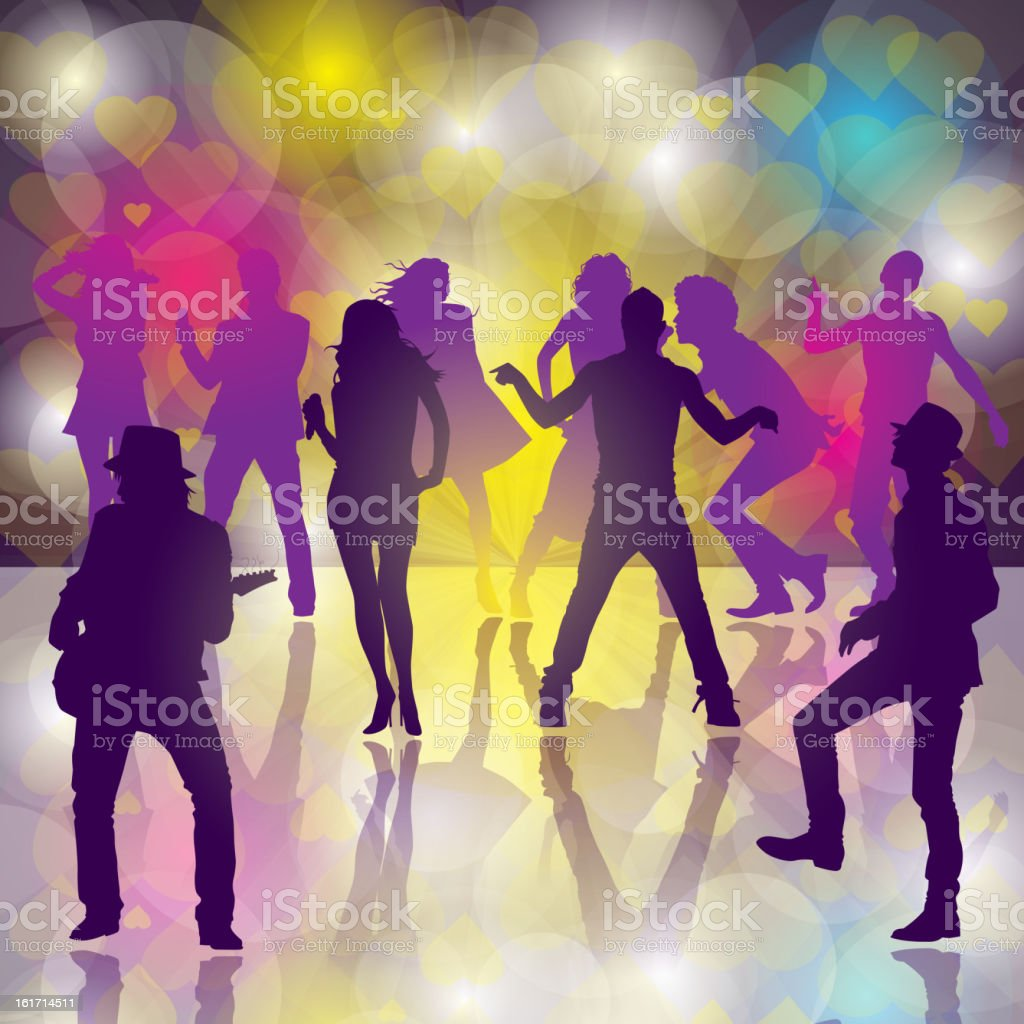 Dance Party vector art illustration