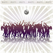 design of vector dance party silhouette.This file was recorded with adobe illustrator cs4 transparent.EPS10 format.