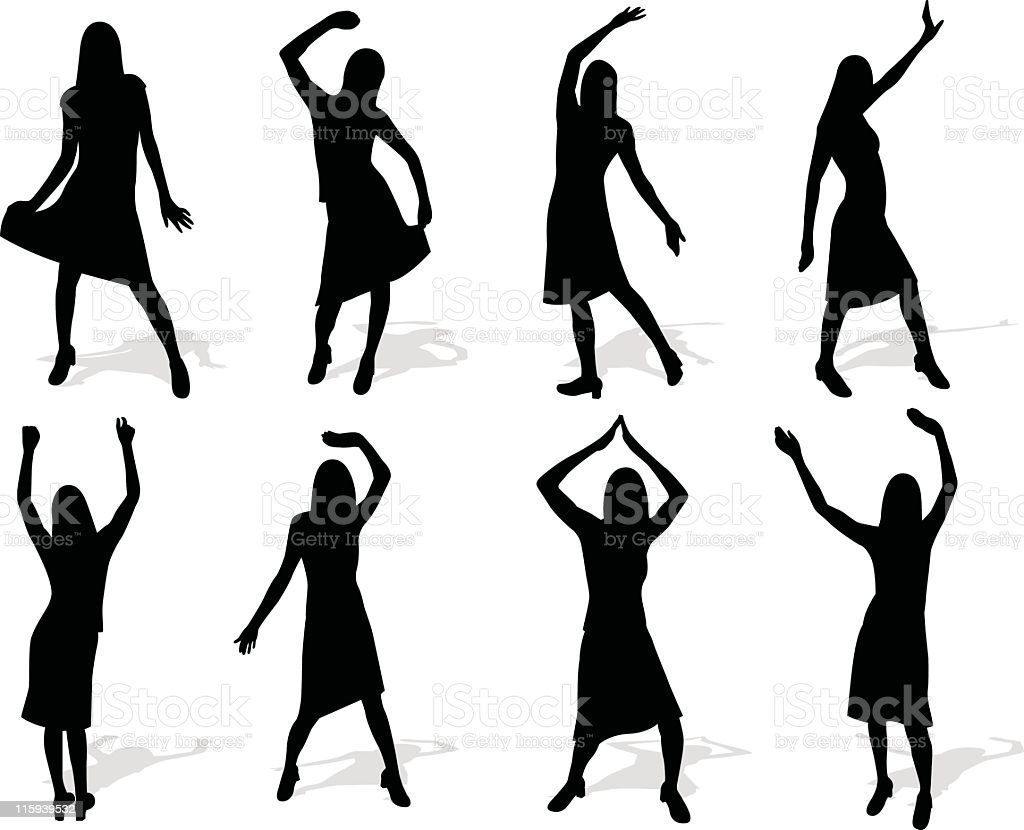 Dance set series royalty-free stock vector art