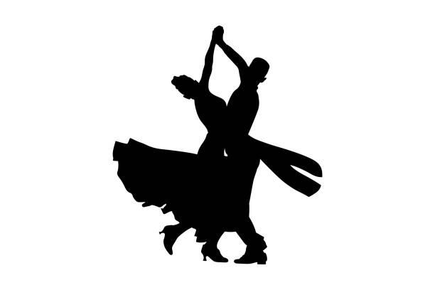 tanz-sport-gesellschaftstanz - ballsäle stock-grafiken, -clipart, -cartoons und -symbole