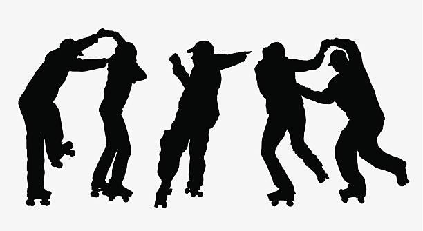 Dance! ( Vector ) Everybody dance now... urban, hiphop, retro..  svg stock illustrations