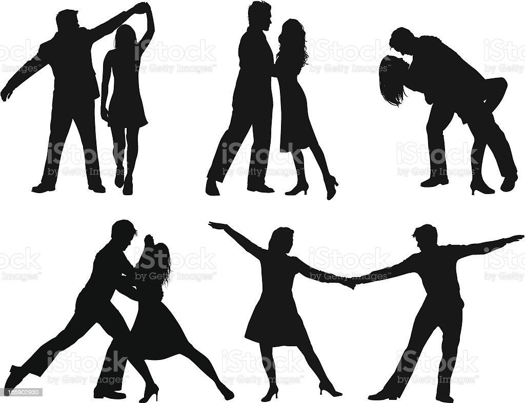 Baile - ilustración de arte vectorial