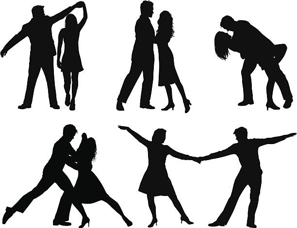 dance - couples stock illustrations, clip art, cartoons, & icons