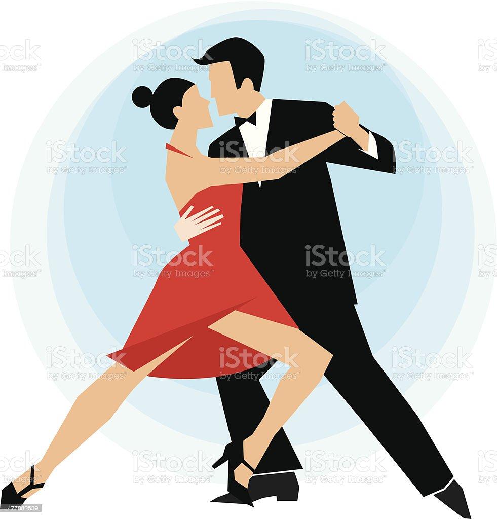 Dance vector art illustration