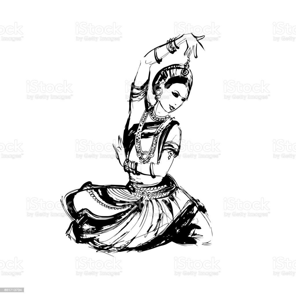 Dancer Indian Dance Stock Illustration Download Image Now Istock