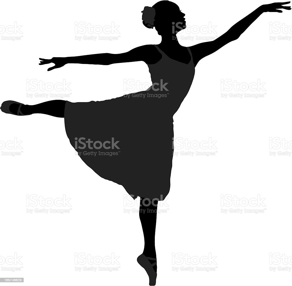 dancer silhouette vector art illustration