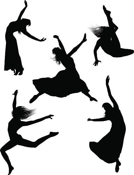 Tancerz sylwetki – artystyczna grafika wektorowa