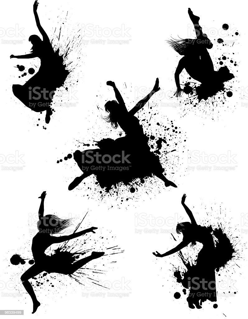 Bailarín Splatters - ilustración de arte vectorial